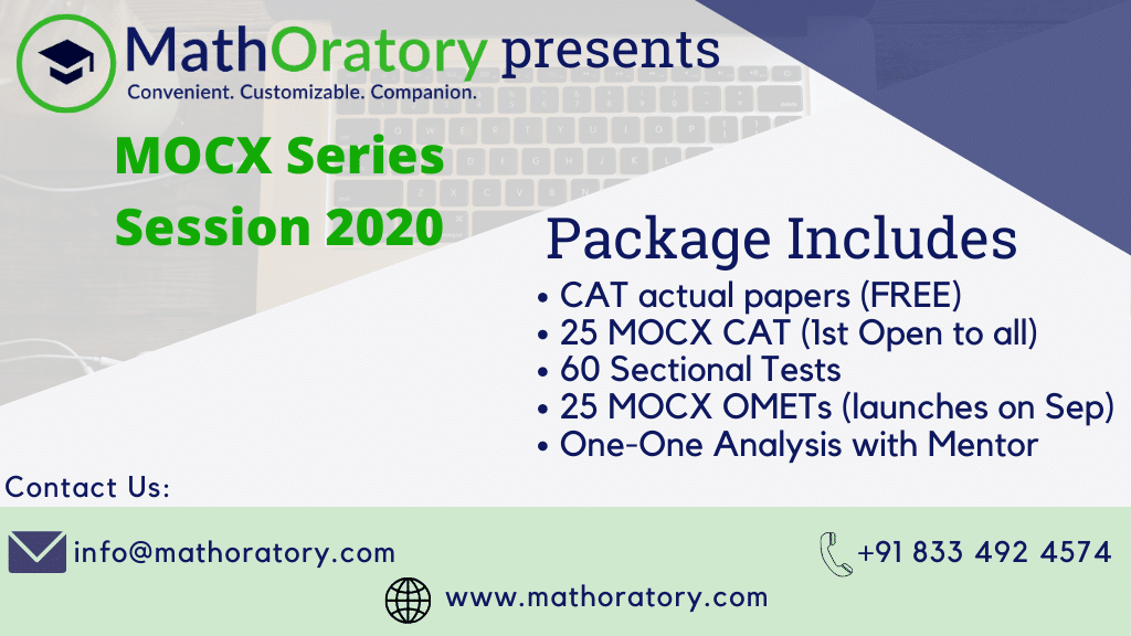 Online Mock CAT and OMET, including Sectional Tests