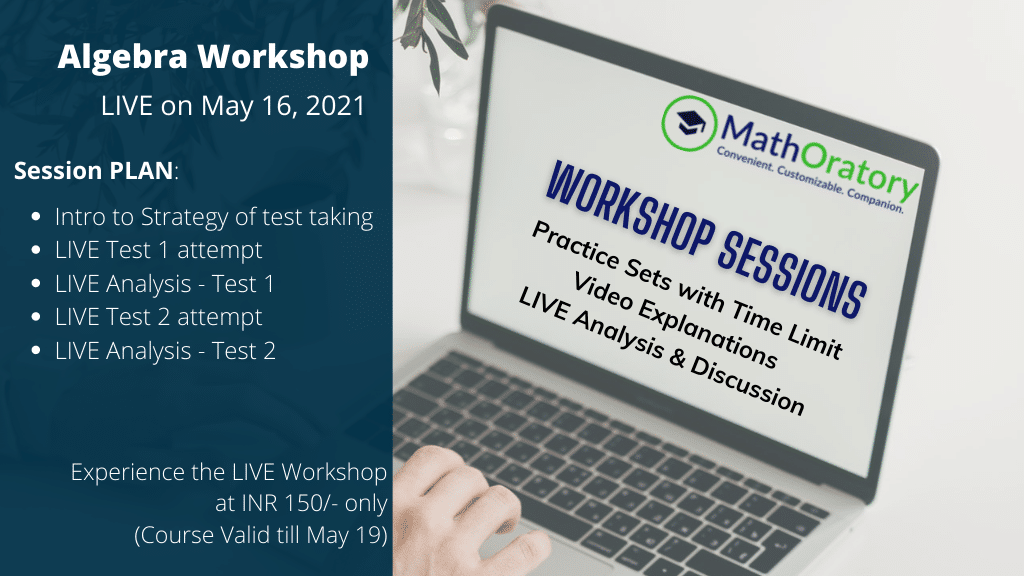 Algebra Workshop on May 16th by MathOratory